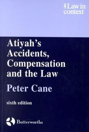 Cover of: Atiyah's Accidents, Compensation and the Law (Law in Context)