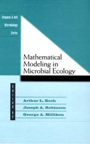 Cover of: Mathematical Modeling In Microbial Ecology (Chapman & Hall Microbiology Series)