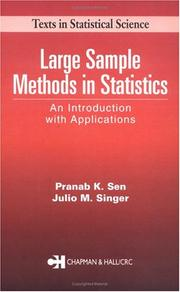 Cover of: Large Sample Methods in Statistics