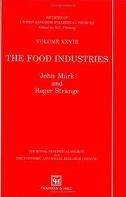 Cover of: Food Industries (Reviews of United Kingdom Statistical Sources, Vol Xxviii)