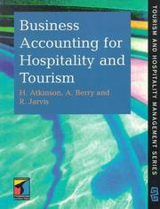 Cover of: Business Accounting for Hospitality and Tourism (Chapman & Hall Series in Tourism and Hospitality Management)