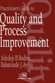 Cover of: Practitioner's Guide to Quality and Process Improvement