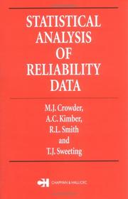 Cover of: Statistical Analysis of Reliability Data (Chapman & Hall Texts in Statistical Science)