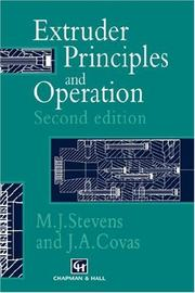 Cover of: Extruder Principles and Operation