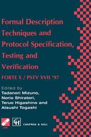 Cover of: Formal Description Techniques and Protocol Specification,