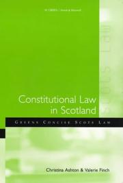 Cover of: Constitutional Law in Scotland (Green's Concise Scots Law)