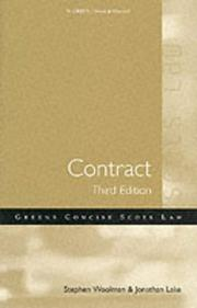 Cover of: Woolman Contract (Green's Concise Scots Law)