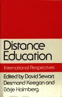 Cover of: Distance Education