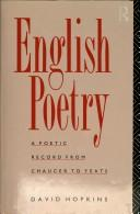 Cover of: English Poetry