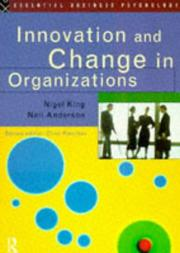 Cover of: Innovation and Change In Organizations