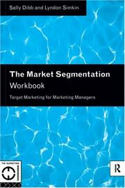 Cover of: The Market Segmentation Workbook