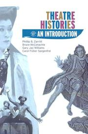 Cover of: Theatre Histories