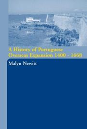 Cover of: A History of Portugese Overseas Expansion 1400-1668