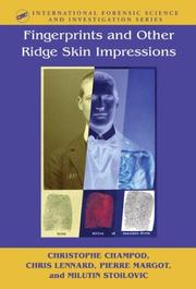 Cover of: Fingerprints and Other Ridge Skin Impressions (International Forensic Science and Investigation Series)
