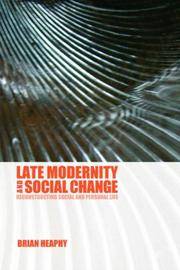 Cover of: Late Modernity and Social Change