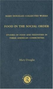 Cover of: Food in the Social Order: Mary Douglas