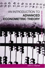 Cover of: An Introduction to Advanced Econometric Theory