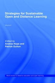 Cover of: Strategies For Sustainable Open and Distance Learning