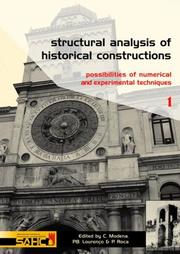 Cover of: Structural Analysis of Historical Constructions - 2 Volume Set