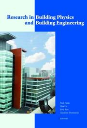Cover of: Research in Building Physics and Building Engineering