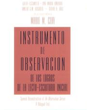 Cover of: Instrumento de observacion de los logros de la lecto-escritura inicial: Spanish Reconstruction of An Observation Survey A Bilingual Text