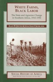 Cover of: White Farms, Black Labour