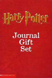 Cover of: Harry Potter Journal Box Set (3 journals)