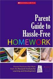 Cover of: Parent Guide to Hassle-Free Homework