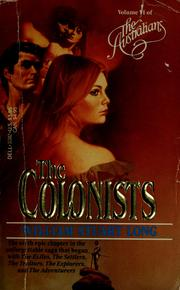 Cover of: The Colonists (The Australians, Vol. 6): The Australians