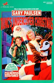 Cover of: Dunc's undercover Christmas