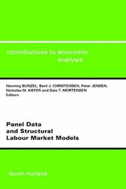 Cover of: Panel Data and Structural Labour Market Models (Contributions to Economic Analysis)