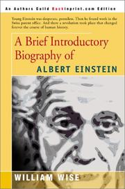 Cover of: A Brief Introductory Biography of Albert Einstein