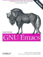 Cover of: Learning GNU Emacs, Third Edition