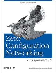 Cover of: Zero Configuration Networking