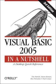 Cover of: Visual Basic 2005 in a Nutshell