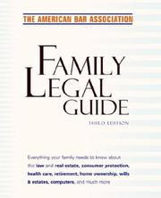 Cover of: American Bar Association Family Legal Guide, Third Edition