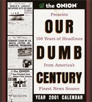 Cover of: The Onion's Our Dumb Century 2001 Calendar (The Onion)