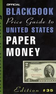Cover of: The Official 2003 Blackbook Price Guide to United States Paper Money, 35th Edition (Official Blackbook Price Guide to United States Paper Money)