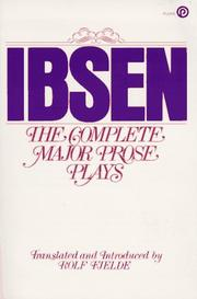 Cover of: Ibsen: Three Plays