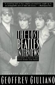Cover of: The Lost Beatles Interviews