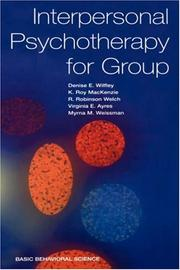 Cover of: Interpersonal Psychotherapy for Group