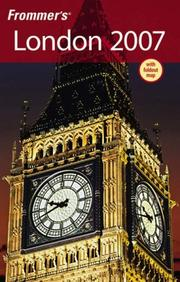 Cover of: Frommer's London 2007 (Frommer's Complete)