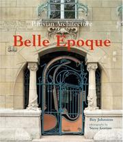 Cover of: Parisian Architecture of the Belle Epoque
