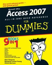 Cover of: Access 2007 All-in-One Desk Reference For Dummies (For Dummies (Computer/Tech))