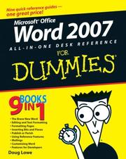 Cover of: Word 2007 All-in-One Desk Reference For Dummies (For Dummies (Computer/Tech))