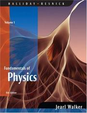 Cover of: Fundamentals of Physics, Volume 1 (Chapters 1 - 20)