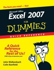 Cover of: Excel 2007 For Dummies Quick Reference (For Dummies (Computer/Tech))