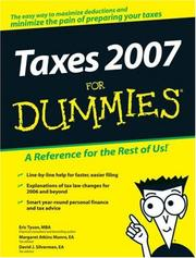 Cover of: Taxes 2007 For Dummies (Taxes for Dummies)