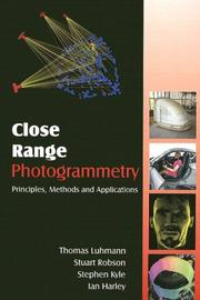 Cover of: Close Range Photogrammetry