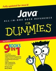 Cover of: Java All-In-One Desk Reference For Dummies (For Dummies (Computers))